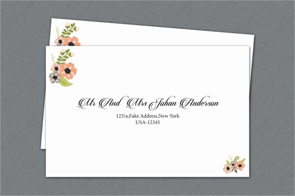 Wedding Invitation Envelope Template Fresh 20 Printable Envelope Templates Free Psd Ai Eps