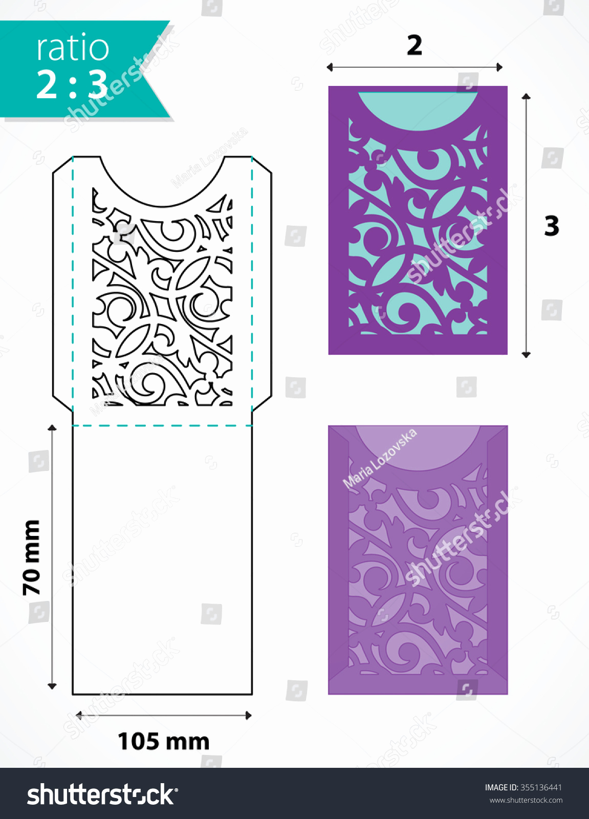 Wedding Invitation Envelope Template Inspirational Die Cut Pocket Envelope Template with Cutout Pattern