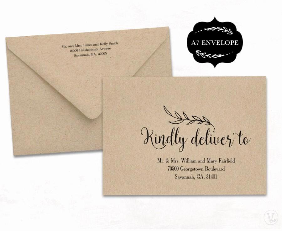 Wedding Invitation Envelope Template New Wedding Envelope Template Printable Wedding Envelope