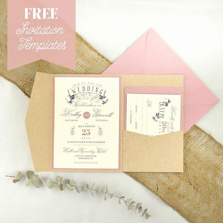 Wedding Invitation Envelope Template Unique 25 Best Ideas About Invitation Templates On Pinterest