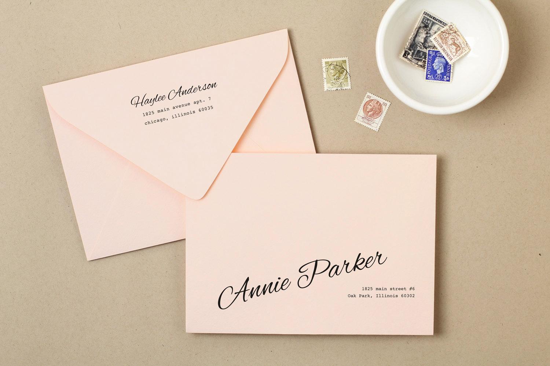 Wedding Invitation Envelope Template Unique Printable Wedding Envelope Template Instant Download Peach