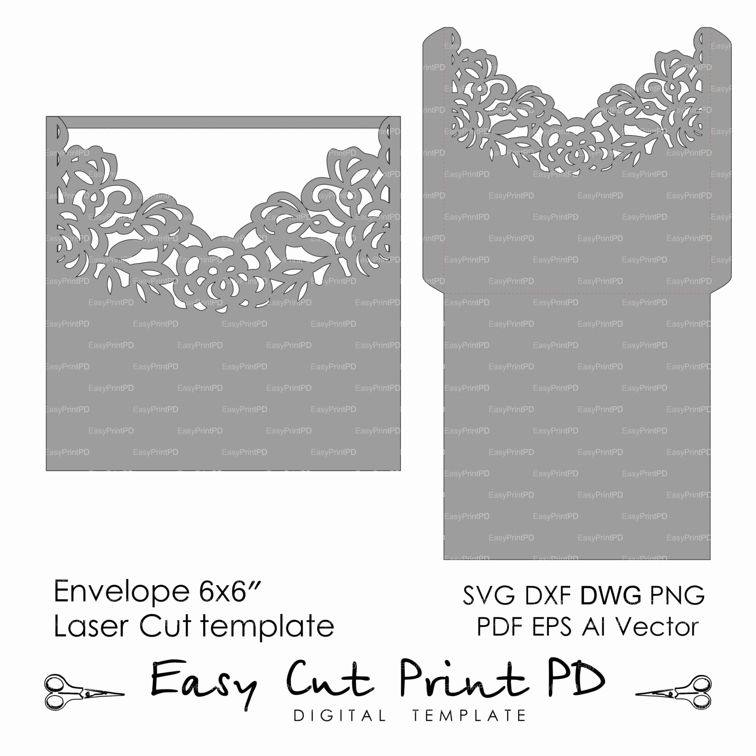 Wedding Invitation Envelope Templates Awesome Wedding Invitation Envelope Pattern Template Roses Lace Folds