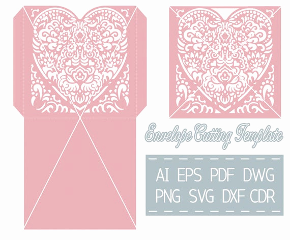 Wedding Invitation Envelope Templates Awesome Wedding Invitation Envelope Template Cutting File Svg Cdr