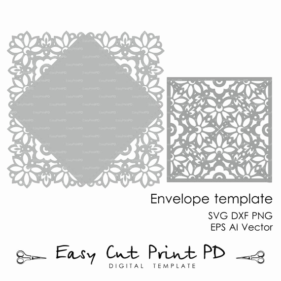 Wedding Invitation Envelope Templates Inspirational Wedding Invitation Card Envelope Template Lace Folds Cover