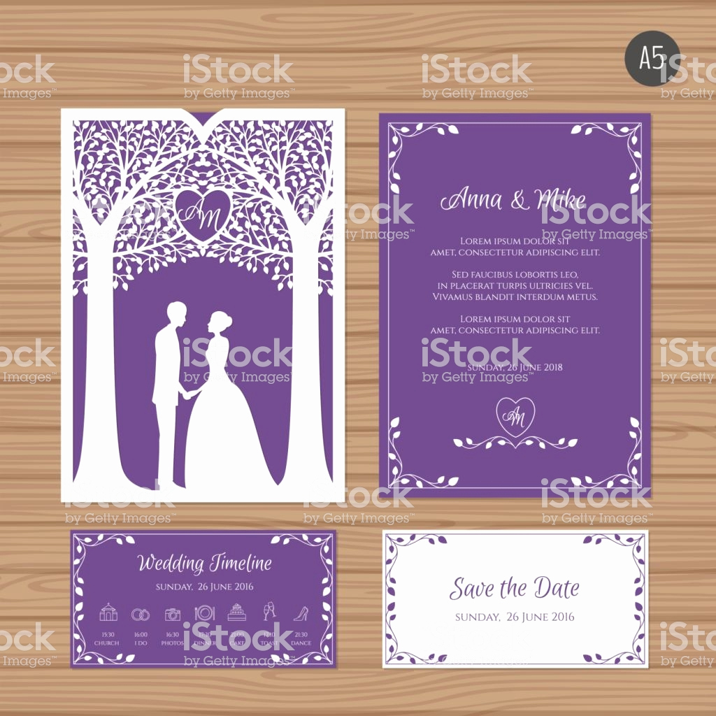 Wedding Invitation Envelope Templates Luxury Wedding Invitation with Bride and Groom and Tree Paper