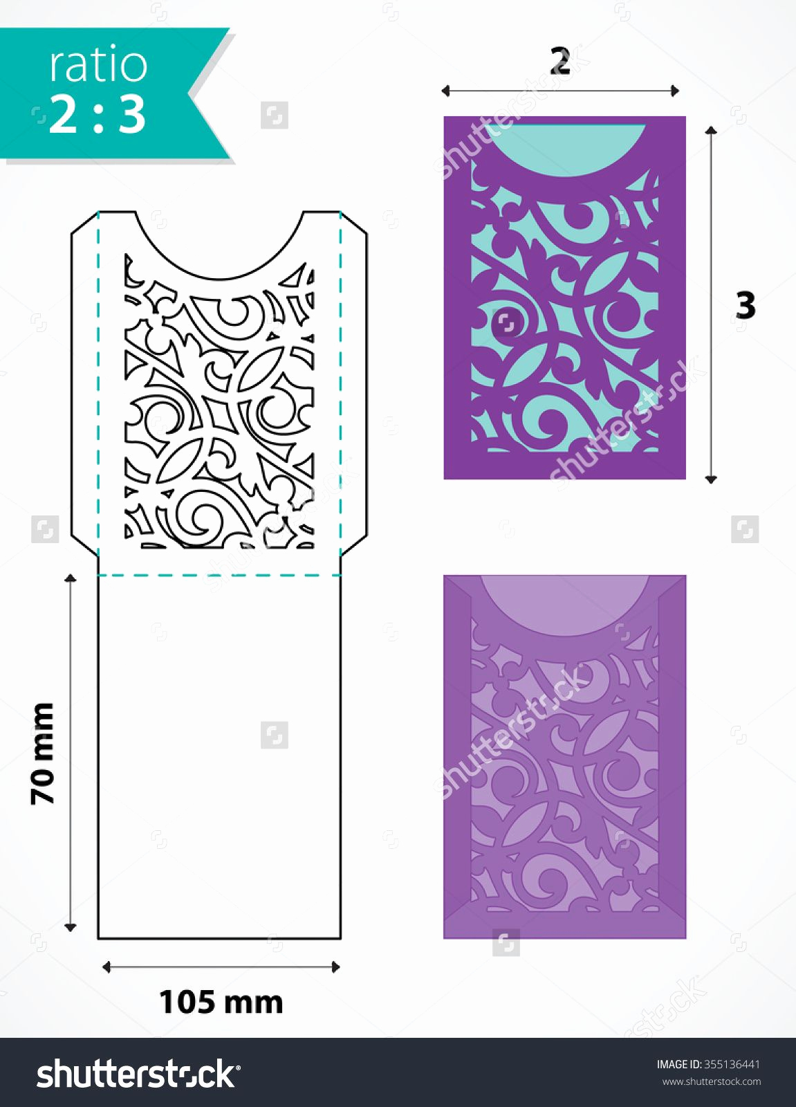 Wedding Invitation Envelope Templates New Die Cut Pocket Envelope Template with Cutout Pattern