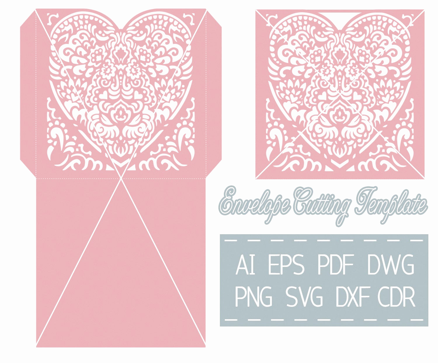 Wedding Invitation Envelopes Templates Lovely Wedding Invitation Envelope Template Cutting File Svg Cdr