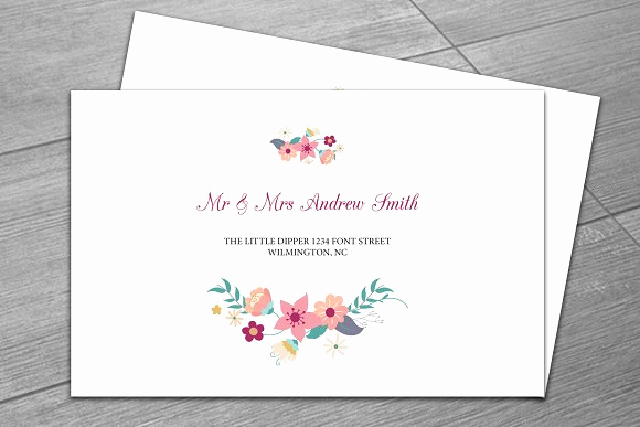 Wedding Invitation Envelopes Templates Luxury Wedding Envelope Template Invitation Templates