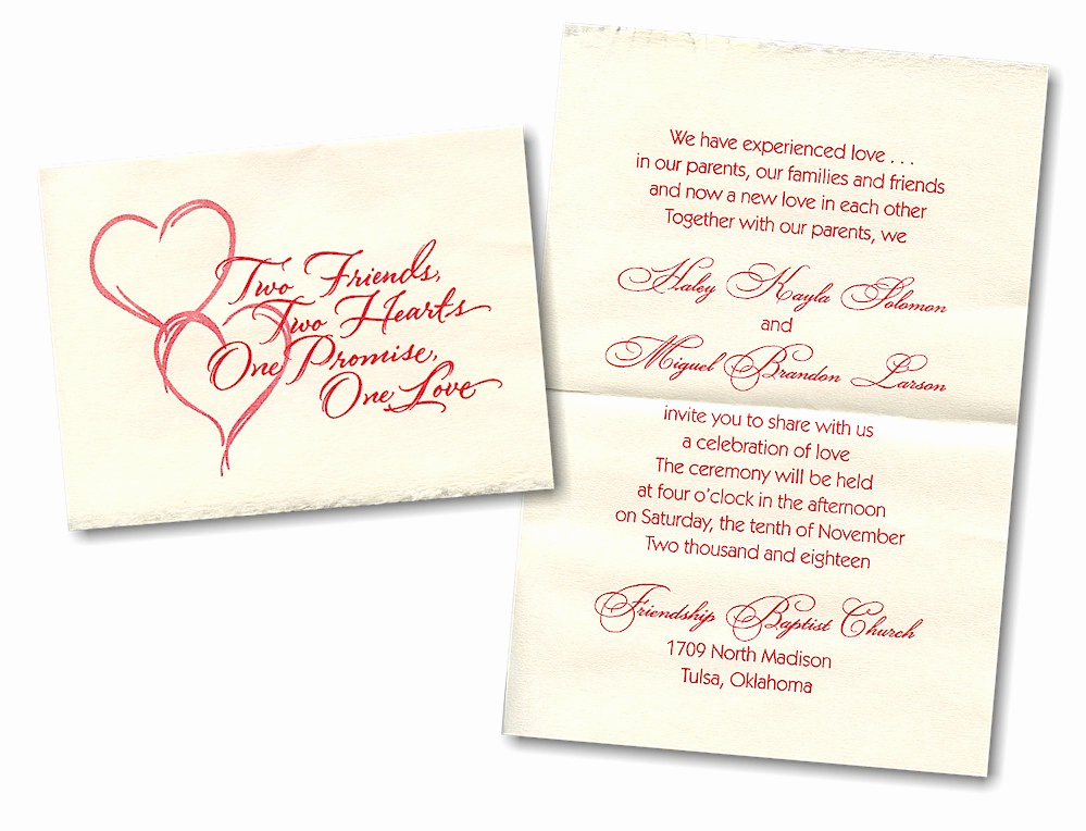 Wedding Invitation for Friends Elegant Wedding Invitation Friends