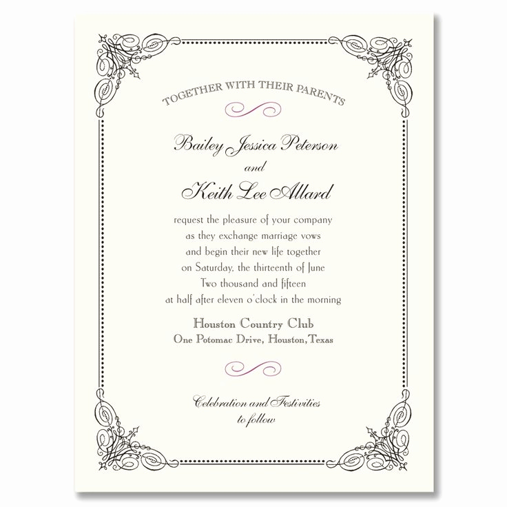 Wedding Invitation Frame Ideas Awesome Black Vintage Frame Invitation Wedding