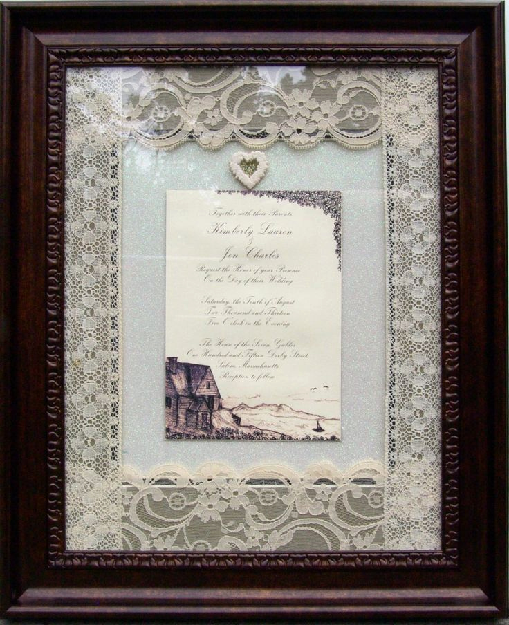 Wedding Invitation Frame Ideas Beautiful 17 Best Images About Wedding Invitations Framed Keepsake