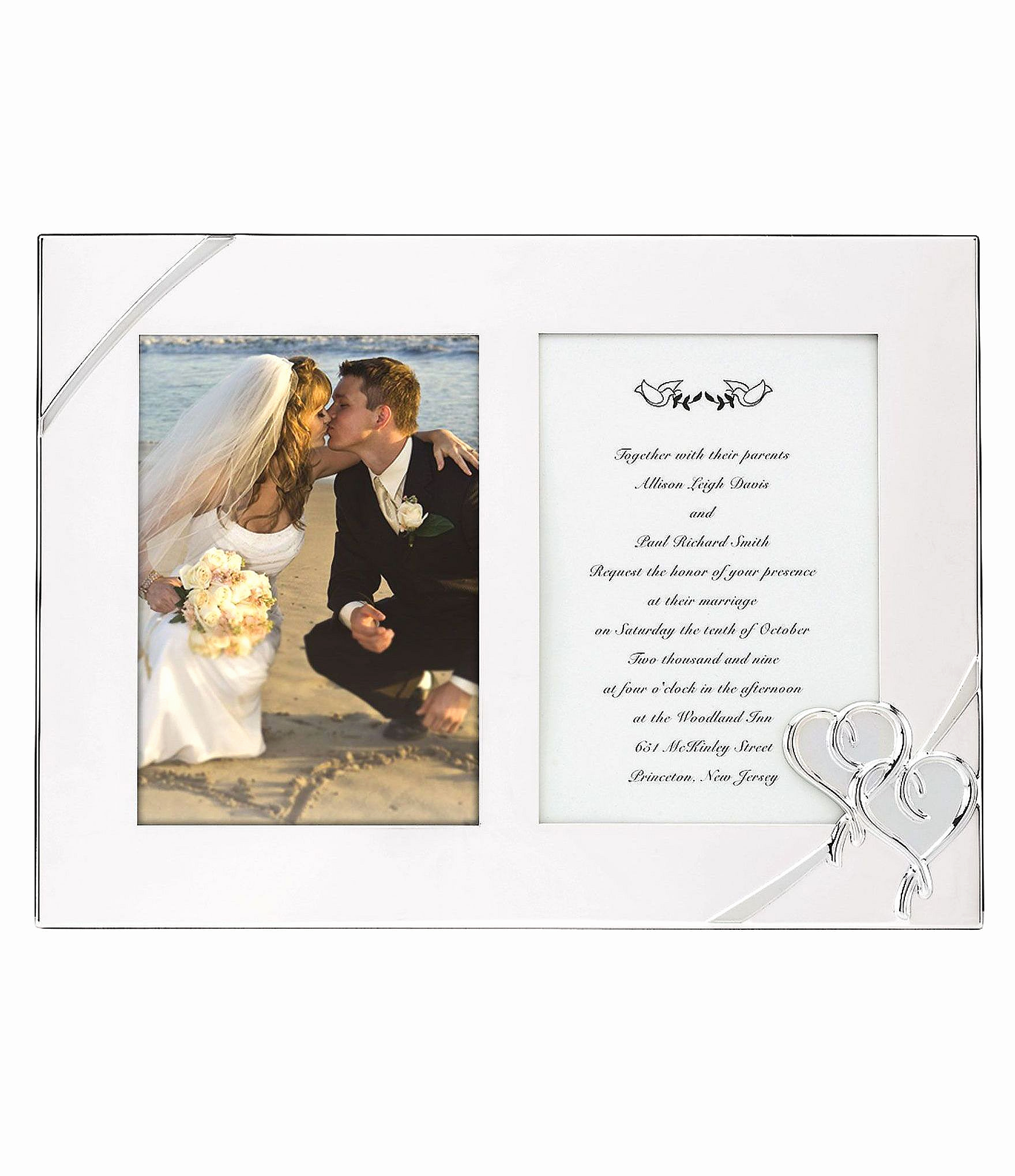 Wedding Invitation Frame Ideas Beautiful Lenox True Love Double Wedding Invitation Picture Frame