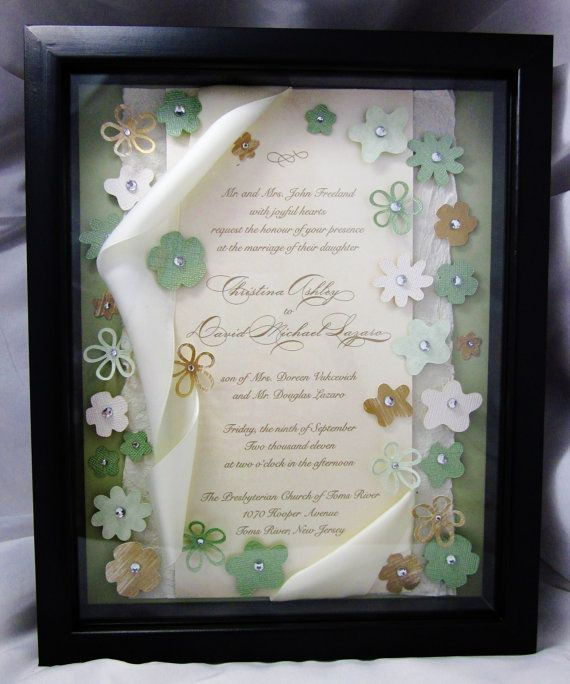 Wedding Invitation Frame Ideas Best Of 25 Best Ideas About Wedding Invitation Keepsake On
