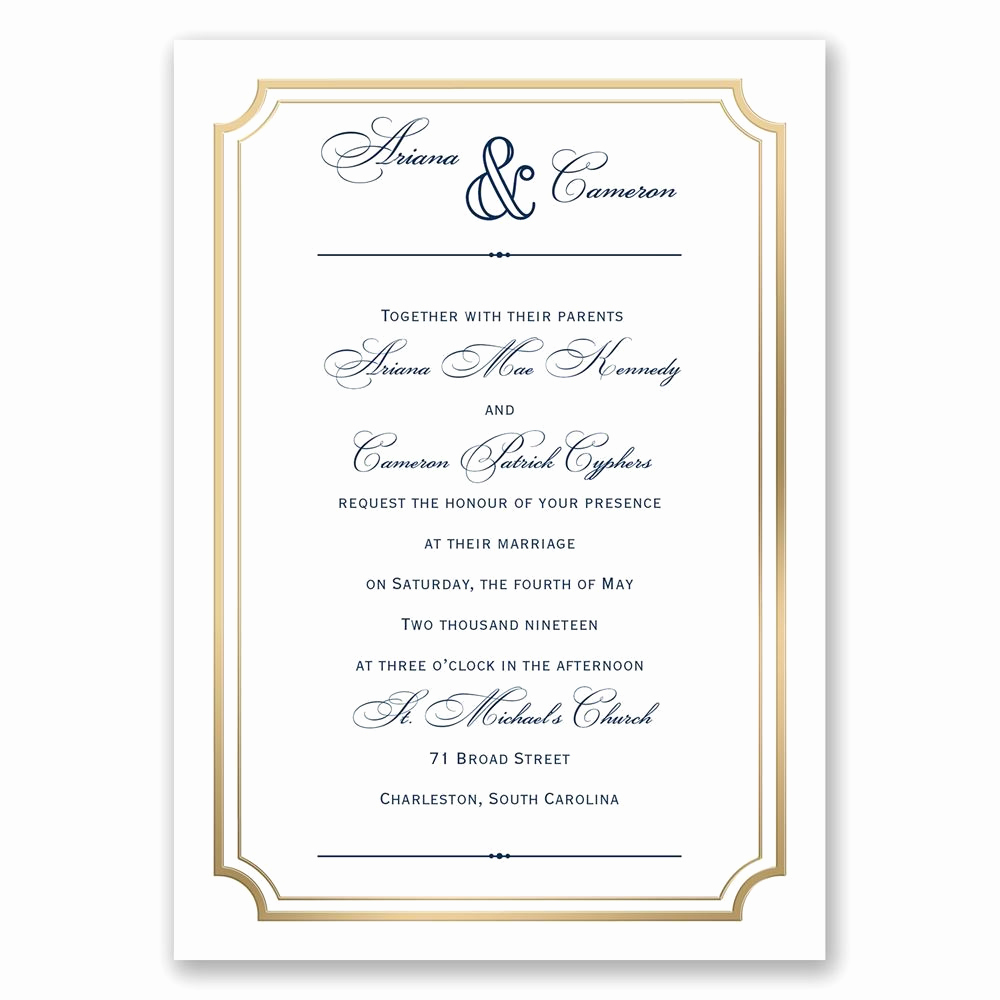 Wedding Invitation Frame Ideas Best Of Gold Frame Wedding Invitation