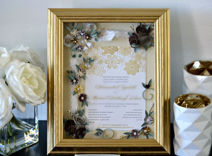 Wedding Invitation Frame Ideas Luxury 17 Best Ideas About Framed Wedding Invitations On