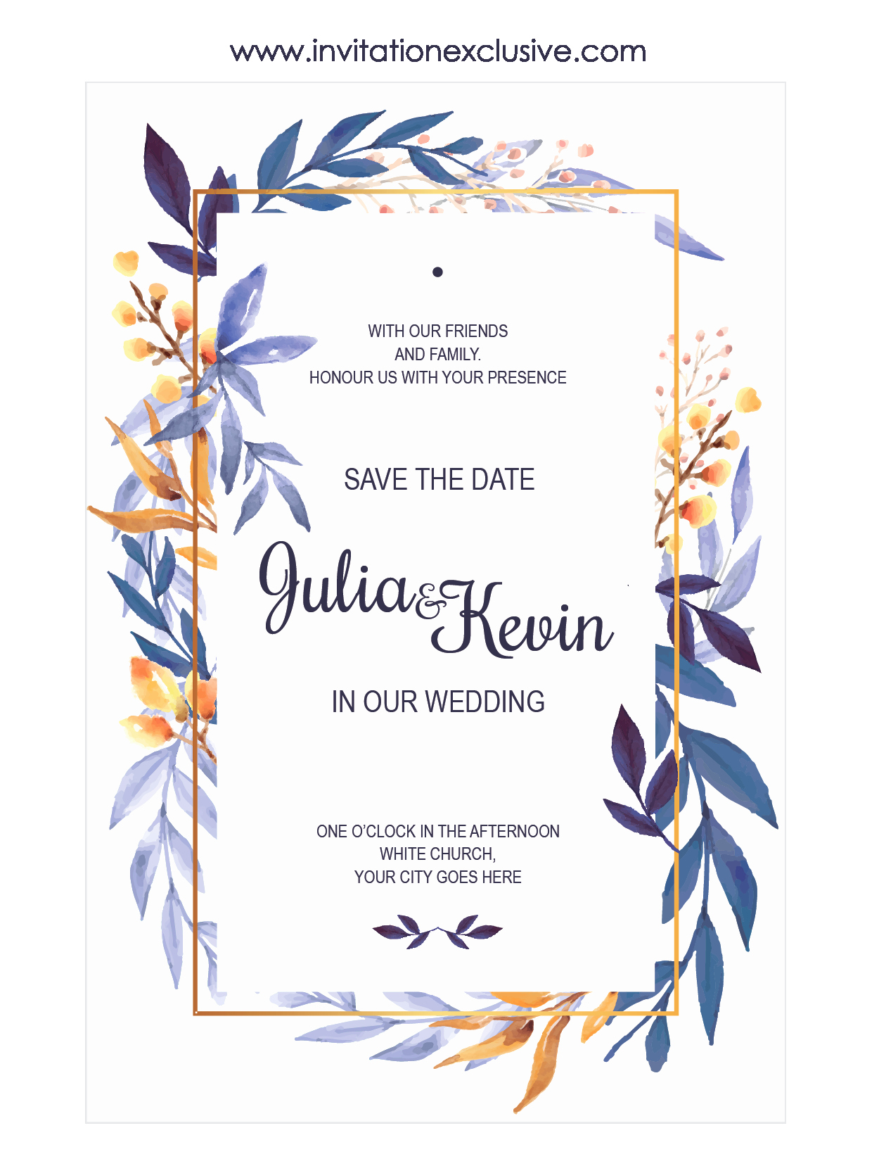 Wedding Invitation Frame Ideas Unique Awesome Leaf Frame Wedding Invitation Designs