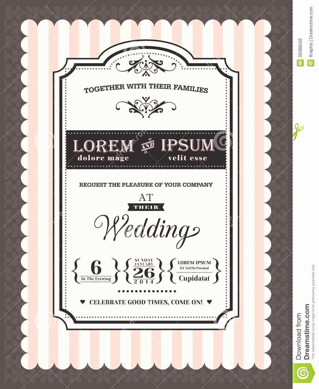 Wedding Invitation Frame Ideas Unique Vintage Wedding Invitation Border and Frame Stock Vector