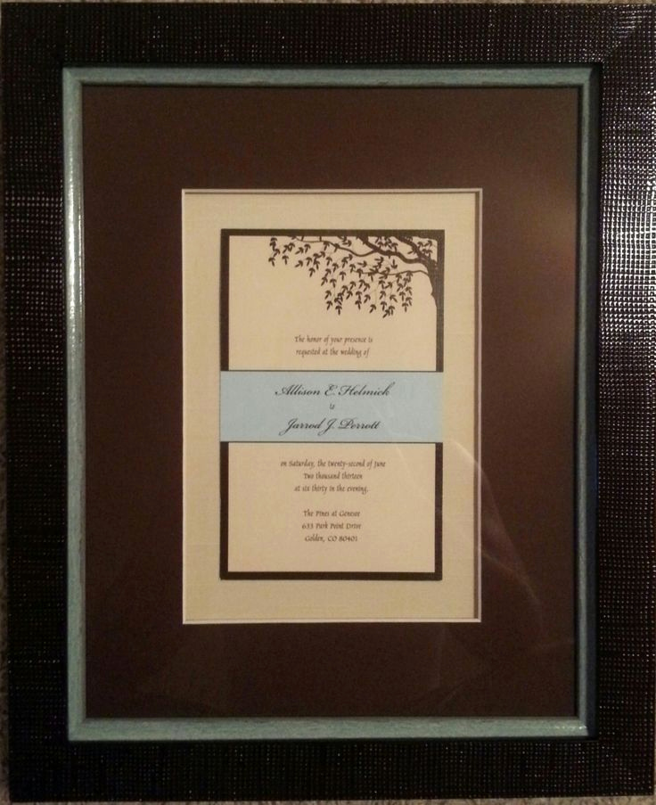 Wedding Invitation Framing Ideas Beautiful 39 Best Framed Wedding Memorabilia Images On Pinterest