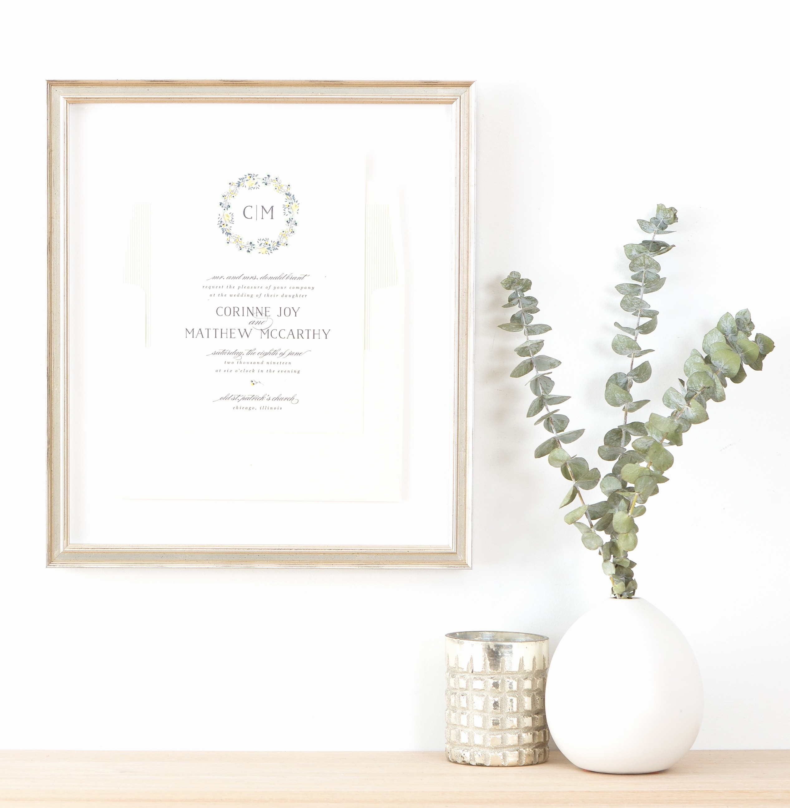 Wedding Invitation Framing Ideas Beautiful How to Frame A Wedding Invitation