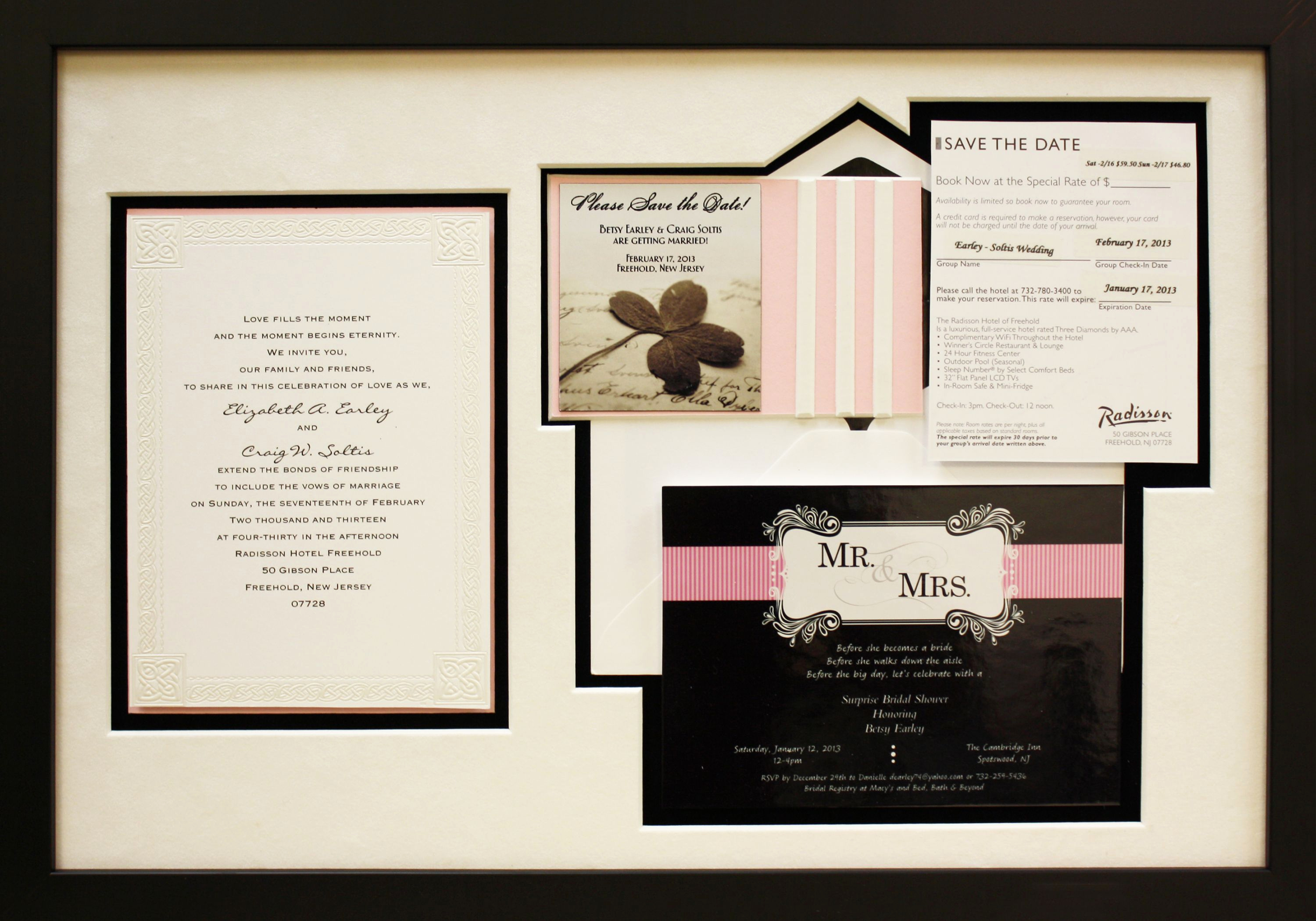 Wedding Invitation Framing Ideas Beautiful Wedding Invitation Framed with A Custom Mat Board to