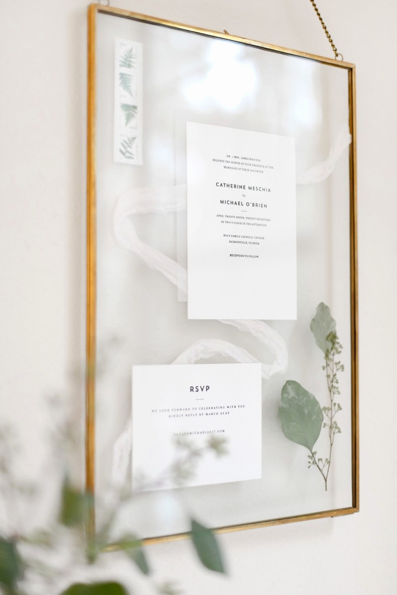 Wedding Invitation Framing Ideas Elegant Display Your Wedding Invites forever with This Diyed