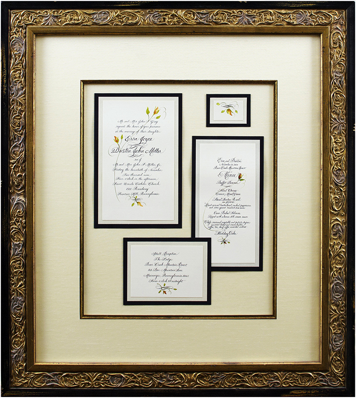 Wedding Invitation Framing Ideas Luxury Framed Marriage Invitation