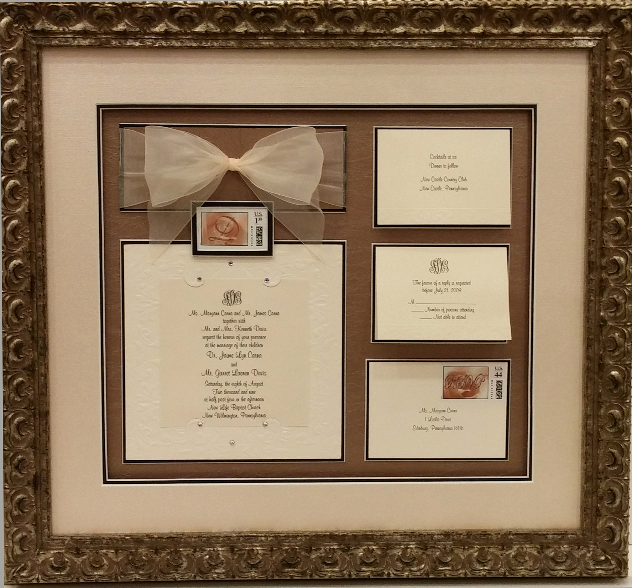 Wedding Invitation Framing Ideas Luxury Framing Examples