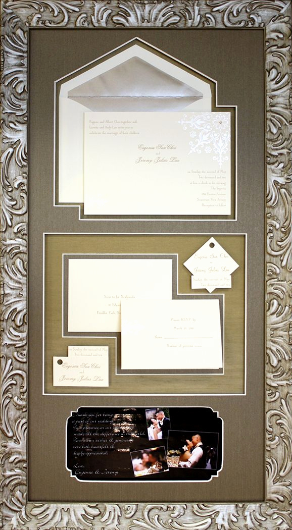 Wedding Invitation Framing Ideas New Beautiful Custom Collage Design for Wedding Invitations