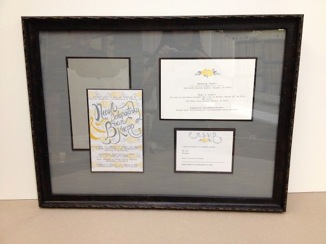 Wedding Invitation Framing Ideas Unique 17 Best Ideas About Framed Wedding Invitations On