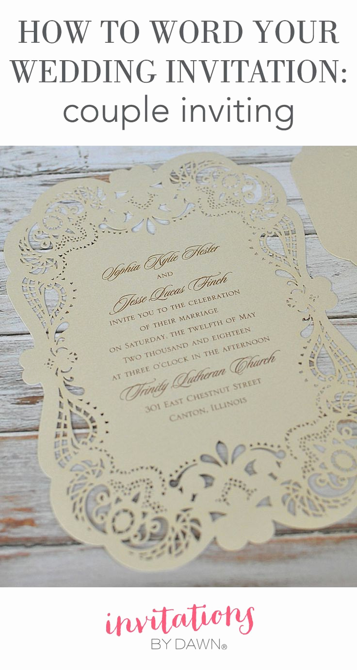 Wedding Invitation From Child Wording Luxury How to Word Your Wedding Invitations when You the Couple