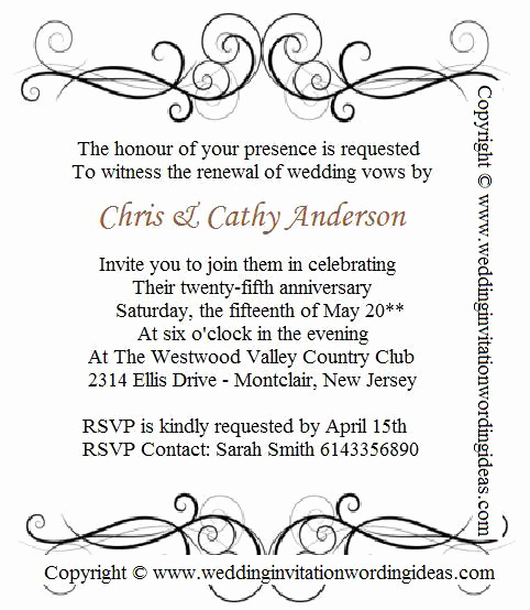 Wedding Invitation From Child Wording New 25th Wedding Invitation Wording – Write Creative Memorable