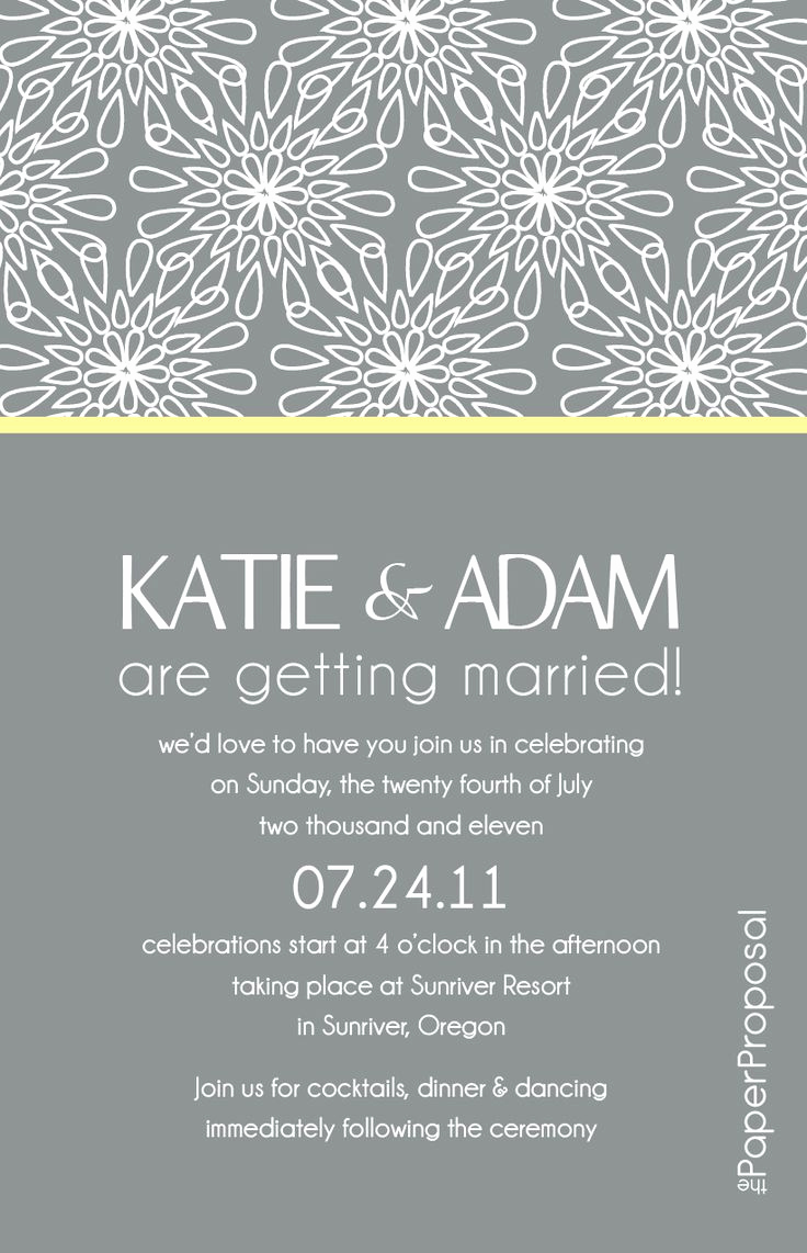 Wedding Invitation From Child Wording Unique Modern Bloom Wedding Invitation Just Needs A