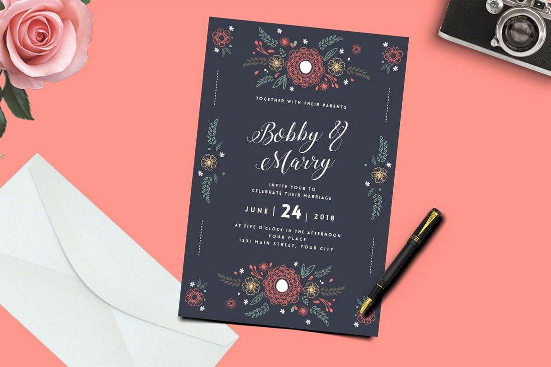 Wedding Invitation Graphic Design Beautiful 50 Wonderful Wedding Invitation & Card Design Samples