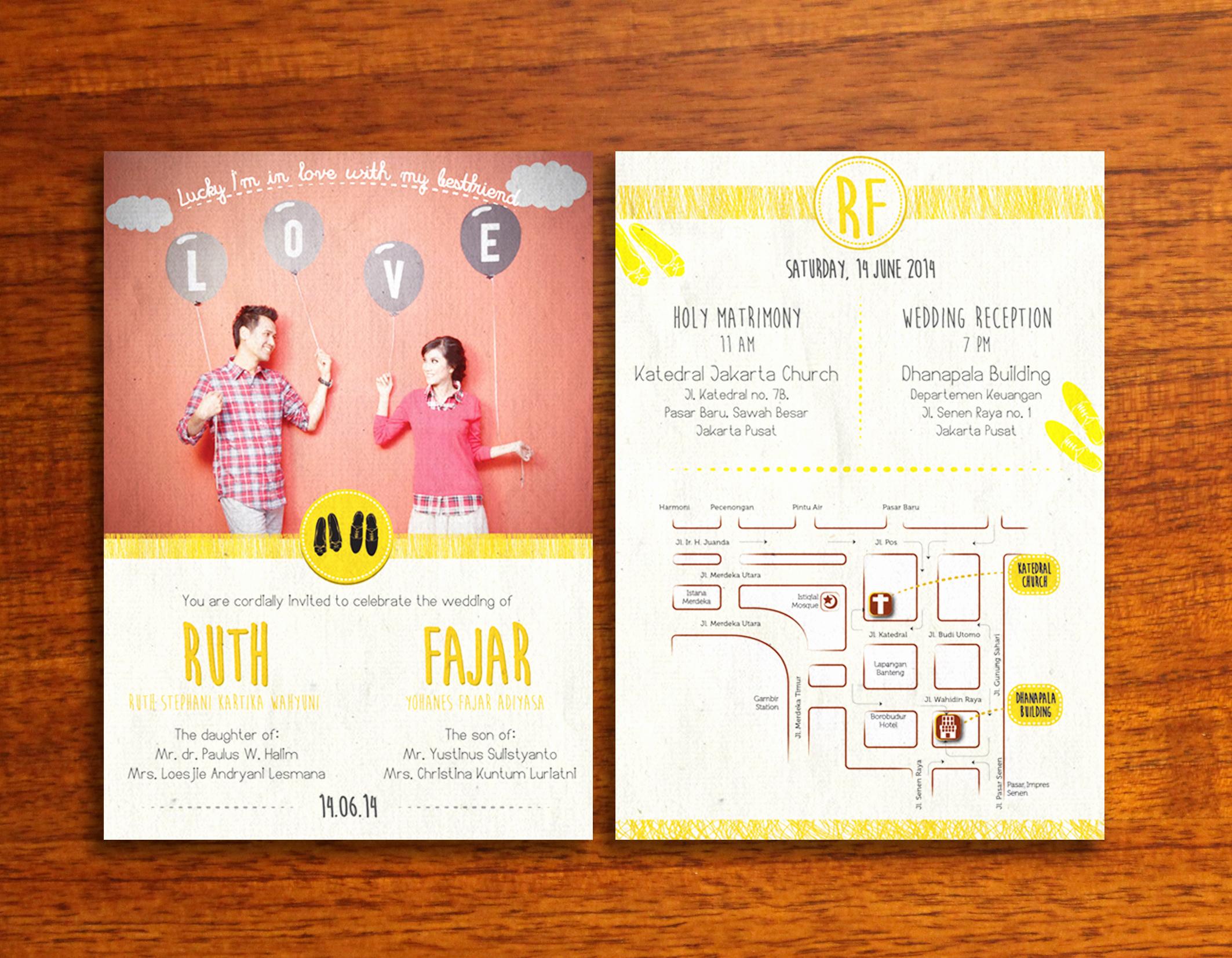 Wedding Invitation Graphic Design Beautiful Prints – Rarirurero Design