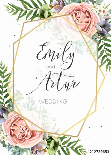 """Wedding Invitation Graphic Design Fresh """"wedding Invitation Floral Invite Save the Date Card"""