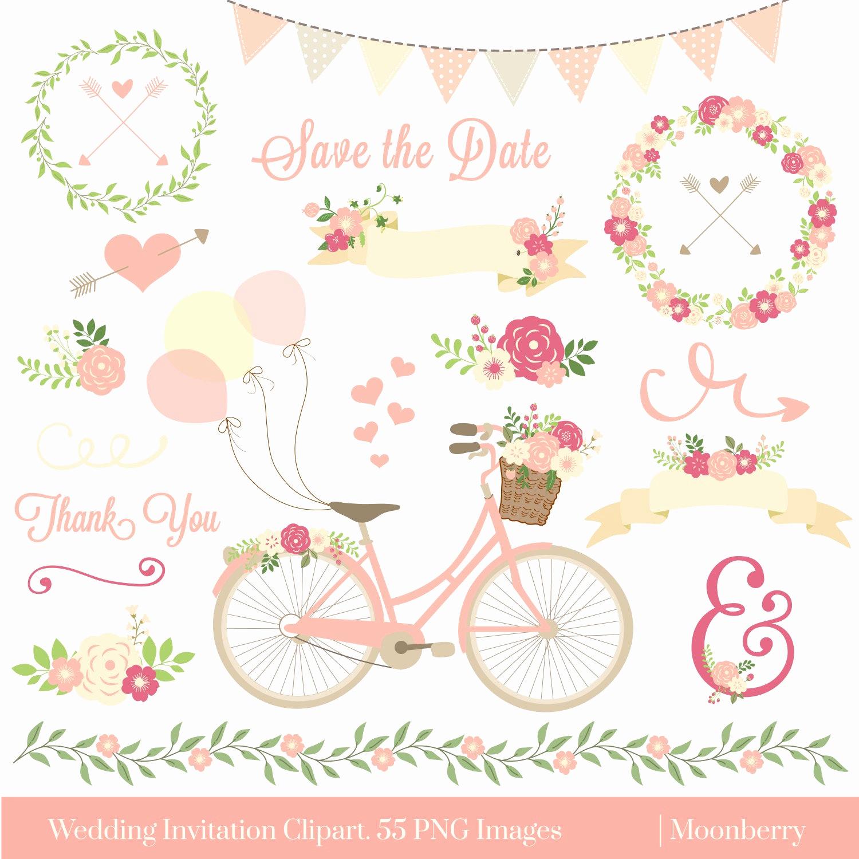 Wedding Invitation Graphic Design Lovely Wedding Invitation Clipart Wedding Clipart Floral