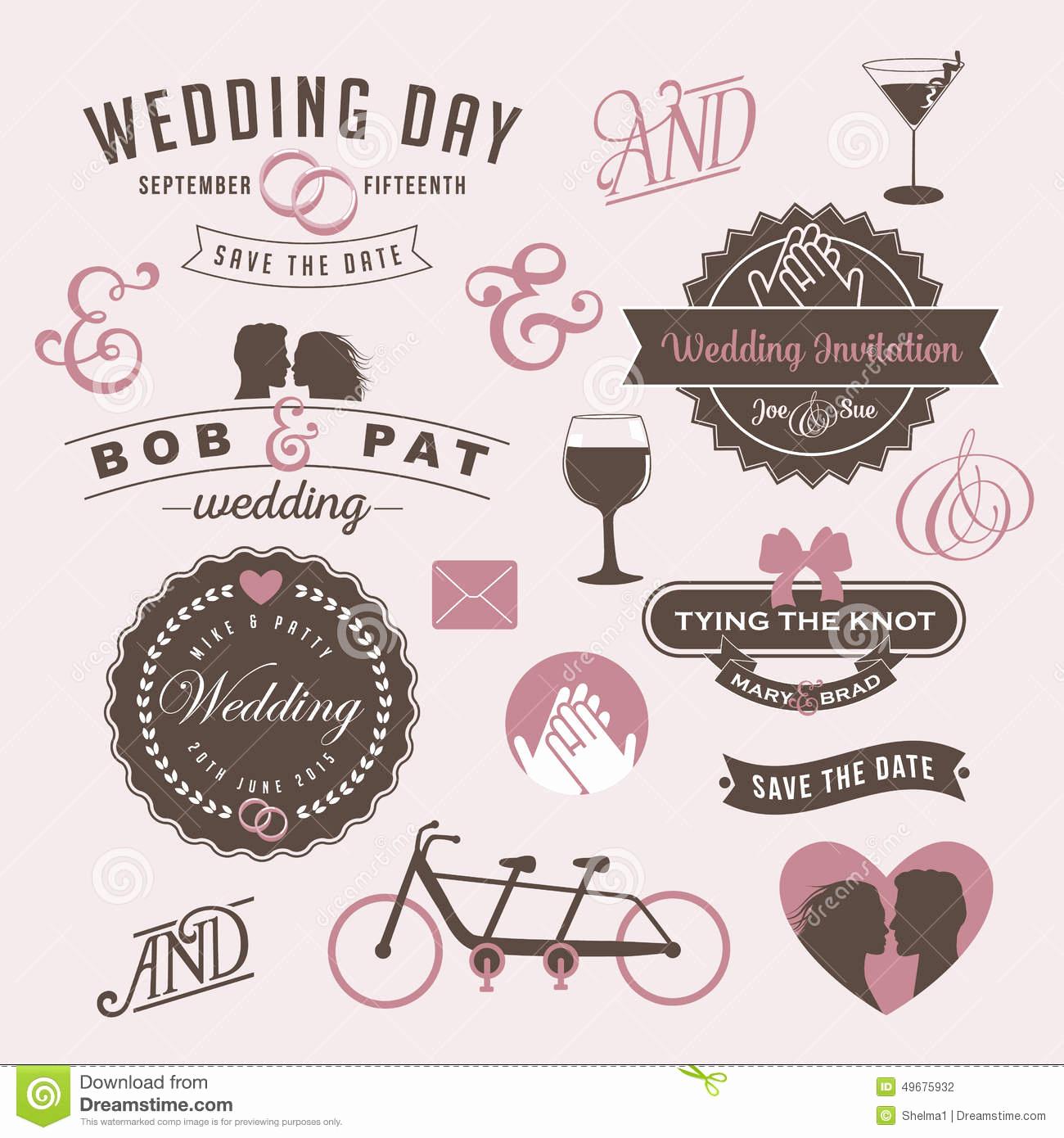 Wedding Invitation Graphic Design Luxury Vintage Wedding Invitation Design Graphic Elements Stock