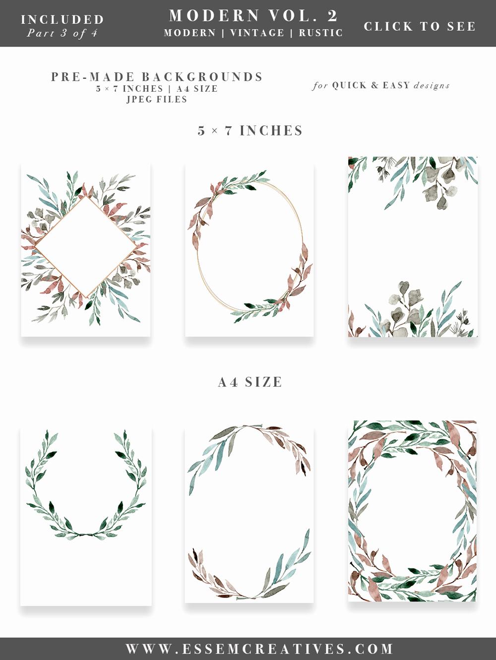 Wedding Invitation Graphic Design New Watercolor Leaves Wreaths Clipart Diy Watercolor Wedding