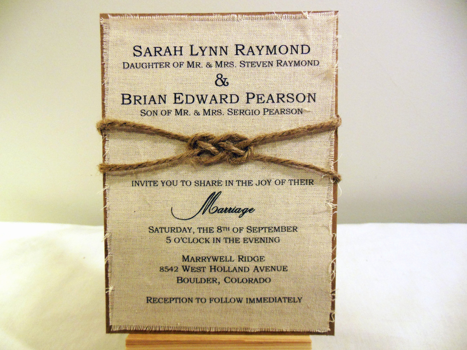 Wedding Invitation Ideas Diy Inspirational Diy Rustic Wedding Invitation Kit Burlap Fabric Rustic