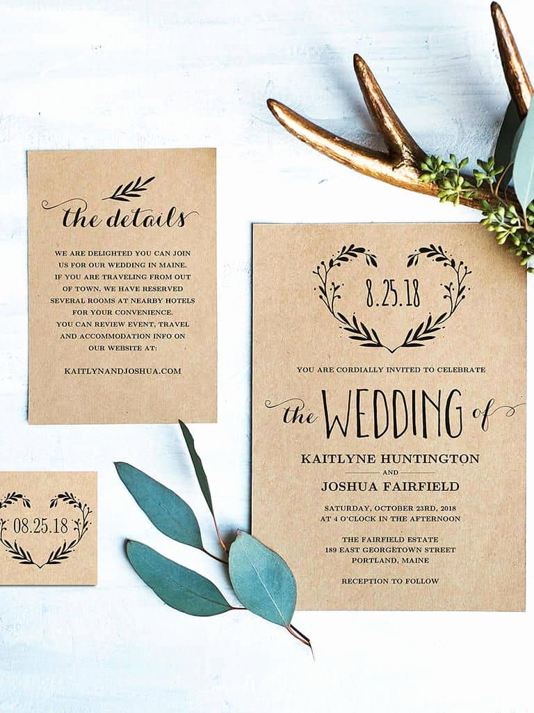Wedding Invitation Ideas Diy Luxury 15 Beautiful Rustic Diy Wedding Invitations Cute Wedding