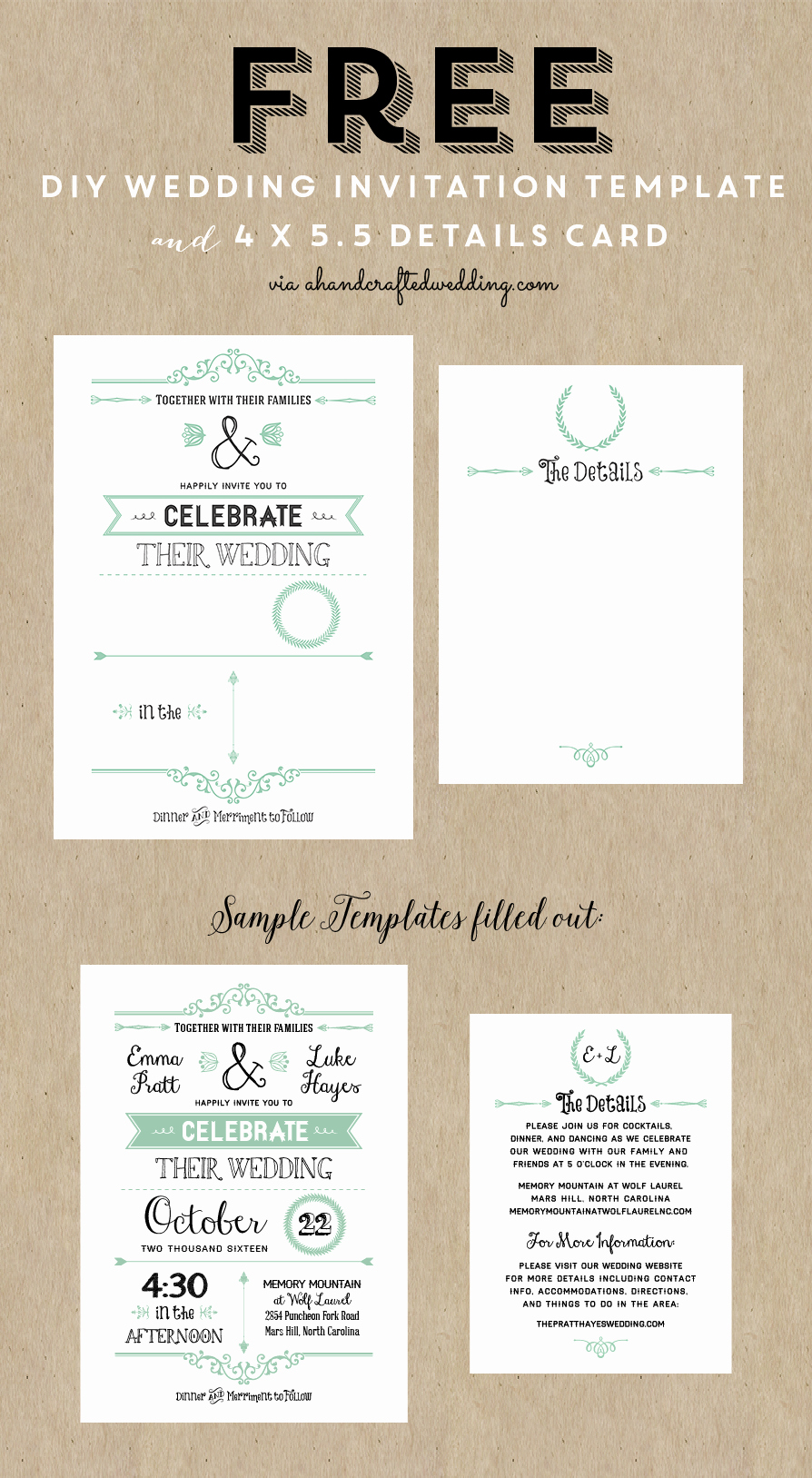 Wedding Invitation Ideas Pinterest Awesome Best 25 Free Wedding Invitation Templates Ideas On
