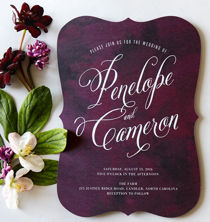 Wedding Invitation Ideas Pinterest Elegant 25 Best Ideas About Purple Wedding Invitations On