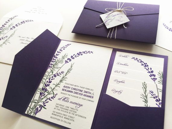 Wedding Invitation Ideas Pinterest New 25 Best Ideas About Lavender Wedding Invitations On
