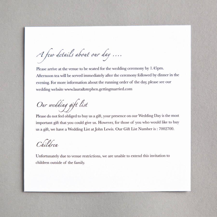 Wedding Invitation Information Card Awesome Bow Wedding Invitation by Twenty Seven