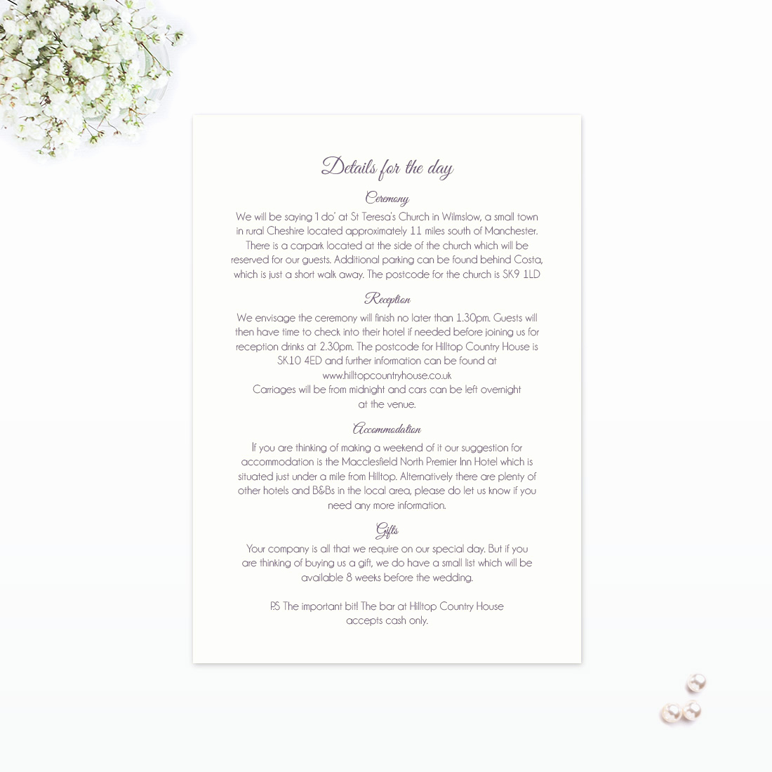 Wedding Invitation Information Card Awesome Floral Lace Additional Information Love Invited Luxury