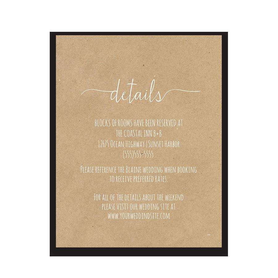Wedding Invitation Information Card Inspirational Fern Wedding Guest Additional Information Insert Card