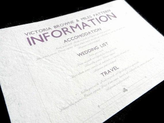 Wedding Invitation Information Card Unique Information Card Inserts for Wedding Invitations 20