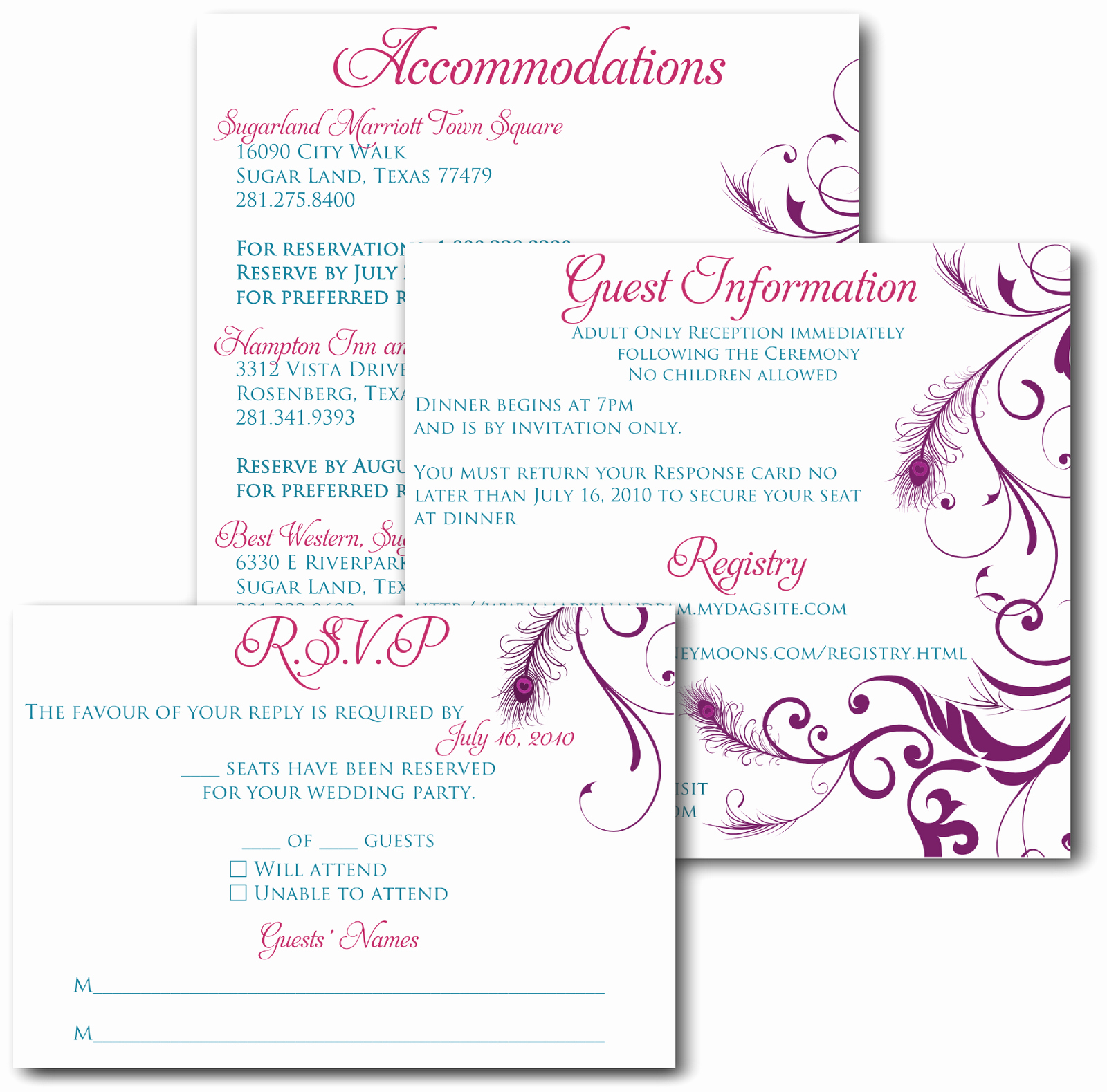Wedding Invitation Insert Templates Awesome Download Free software Wedding Insert Wording Templates