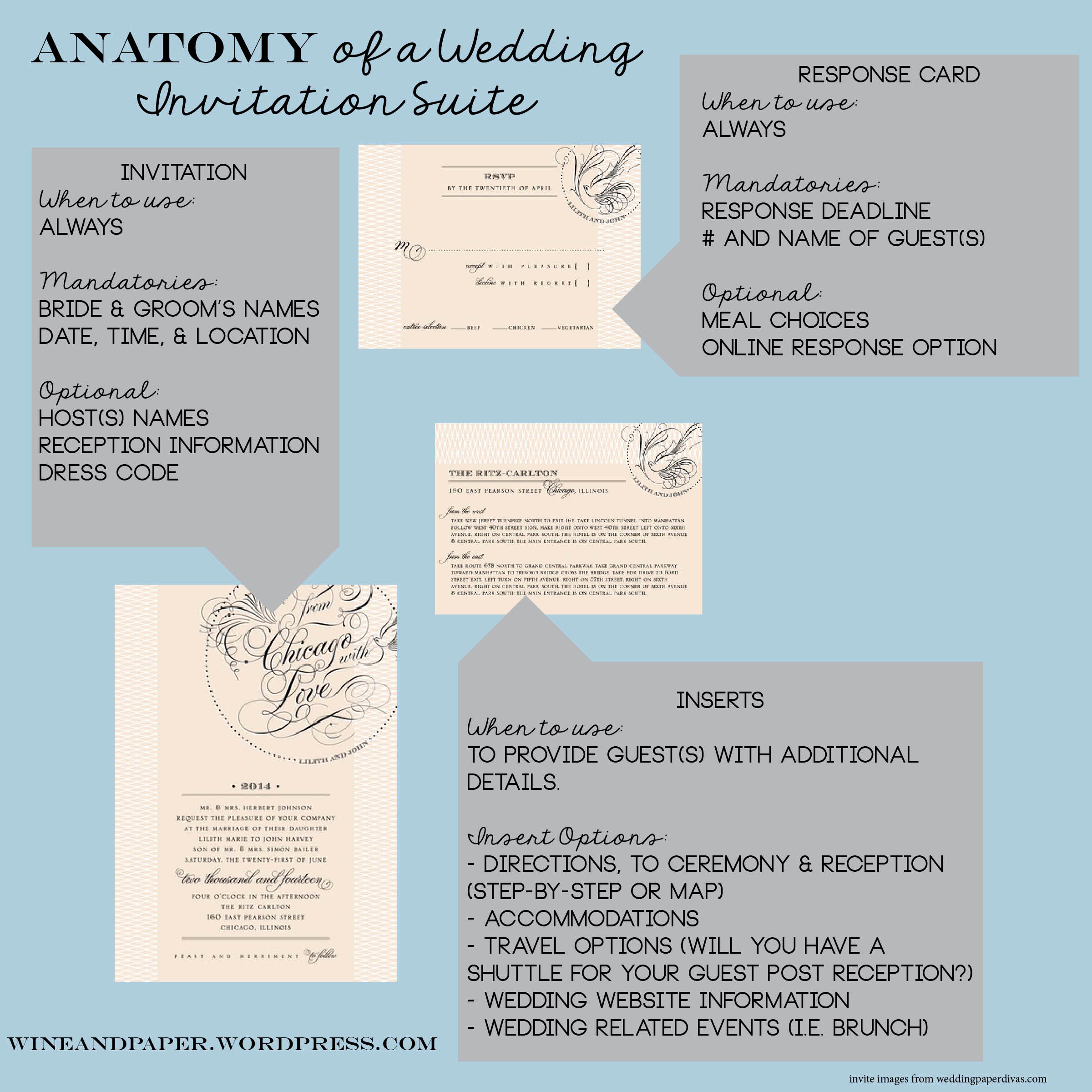 Wedding Invitation Insert Templates Beautiful the Anatomy Of A Wedding Invitation Suite
