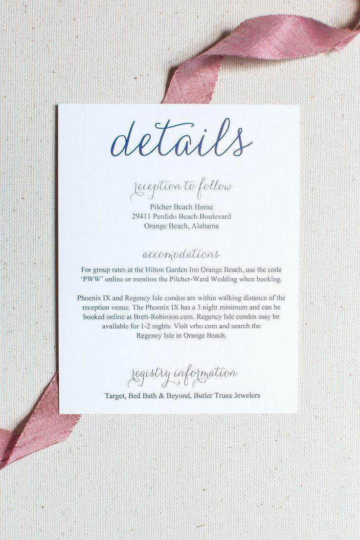 Wedding Invitation Insert Templates Elegant 1000 Ideas About Wedding Invitation Inserts On Pinterest